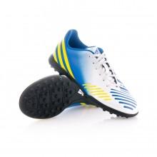 Zapatos de fútbol adidas Predito LZ TRX Turf Niño Blanca-Azul ... a8dabb105e4c0