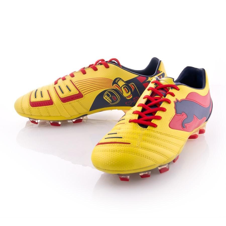ad5ba98fc Bota de fútbol Puma PowerCat 1 Graphic FG Amarilla - Tienda de fútbol  Fútbol Emotion