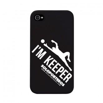 Carcasse  SP iPhone 4 y 4S I´m Keeper Noir mat
