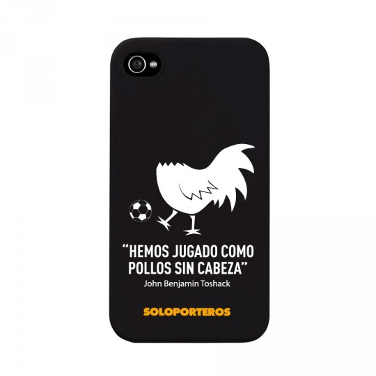 Parte Superior  SP iPhone 4 y 4S Pollos sin cabeza Negro mate