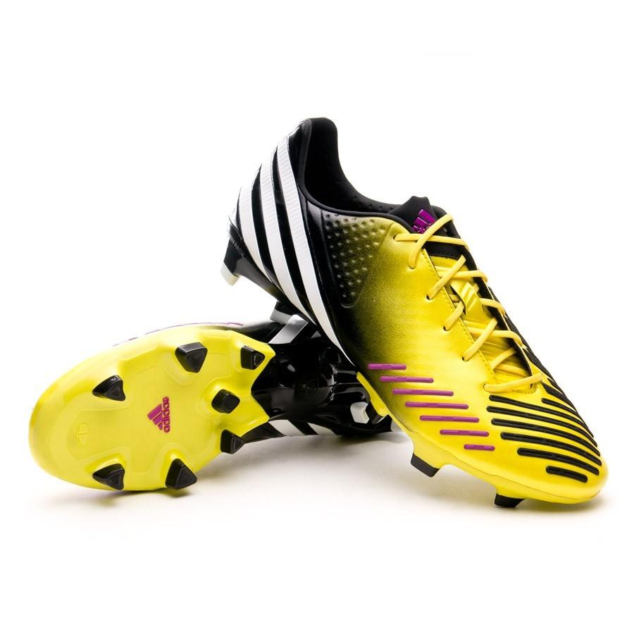 zapatillas adidas negras y amarillas