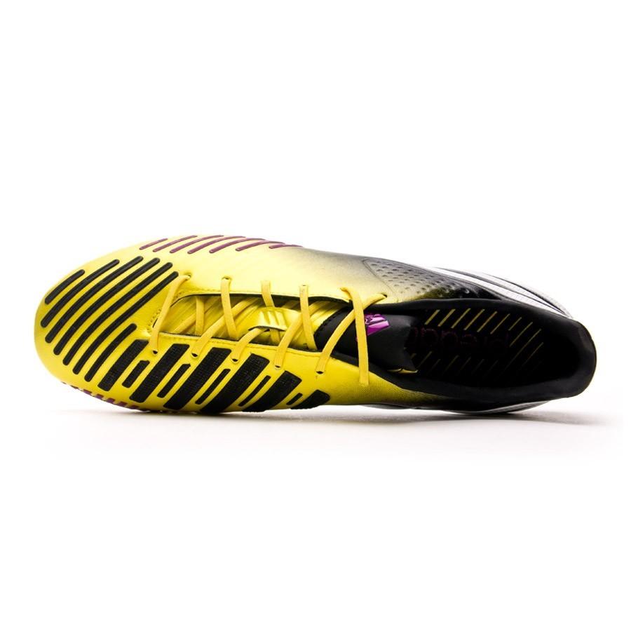 Chuteira Adidas Predator LZ XTRX SG Amarela e Preta