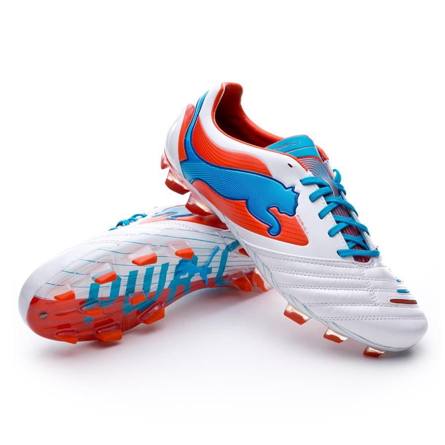 a8e79c15beca ... Boot Puma Powercat 1 FG Blanco metálico-Orange - Soloporteros es ahora  Fútbol Emotion ...