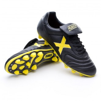Football Boots  Munich Mundial FG Black-Yellow