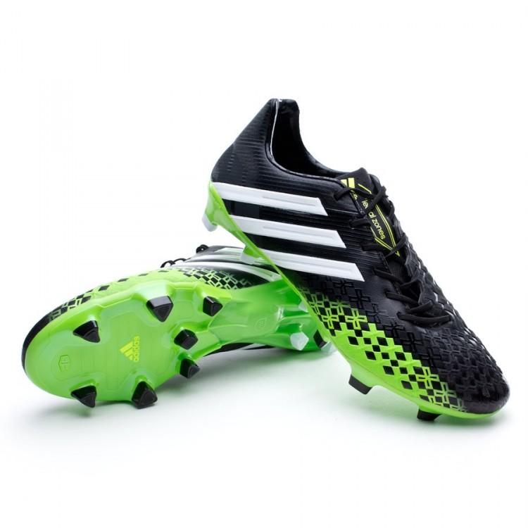 f9c4fc2771fa6 Chuteira adidas Predator LZ TRX FG Preto-Verde - Loja de futebol ...