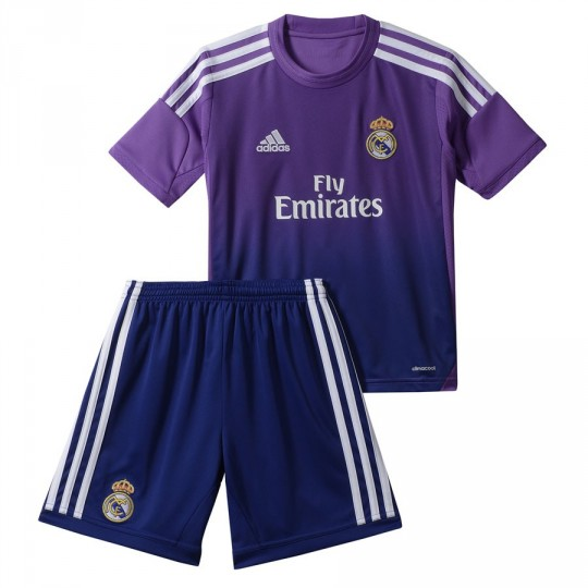 Conjunto  adidas Jr Portero Real Madrid 13 -14 Roxo