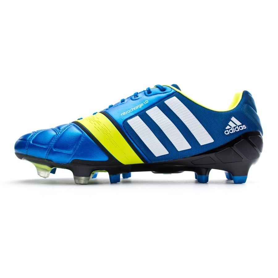 c9e7018a86 Chuteira adidas Nitrocharge 1.0 TRX FG Azul-Electricity - Loja de futebol  Fútbol Emotion