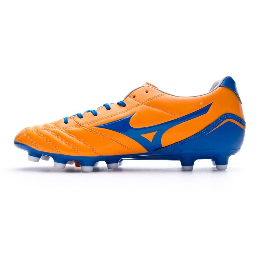 Chuteira Mizuno Neo Zen MD Laranja-Azul - Loja de futebol Fútbol Emotion 9cc737d3f8586