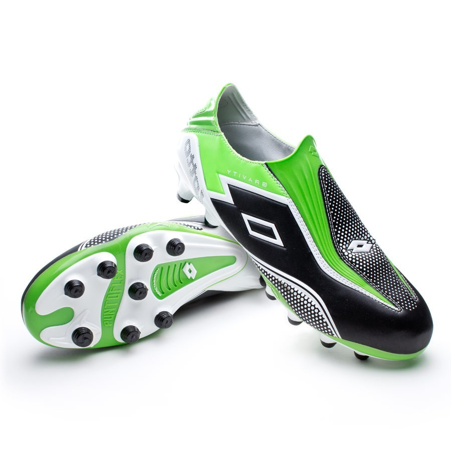differently 4680f caa00 Football Boots Lotto Zhero Gravity III 100 FG Black-Green-White - Football  store Fútbol Emotion