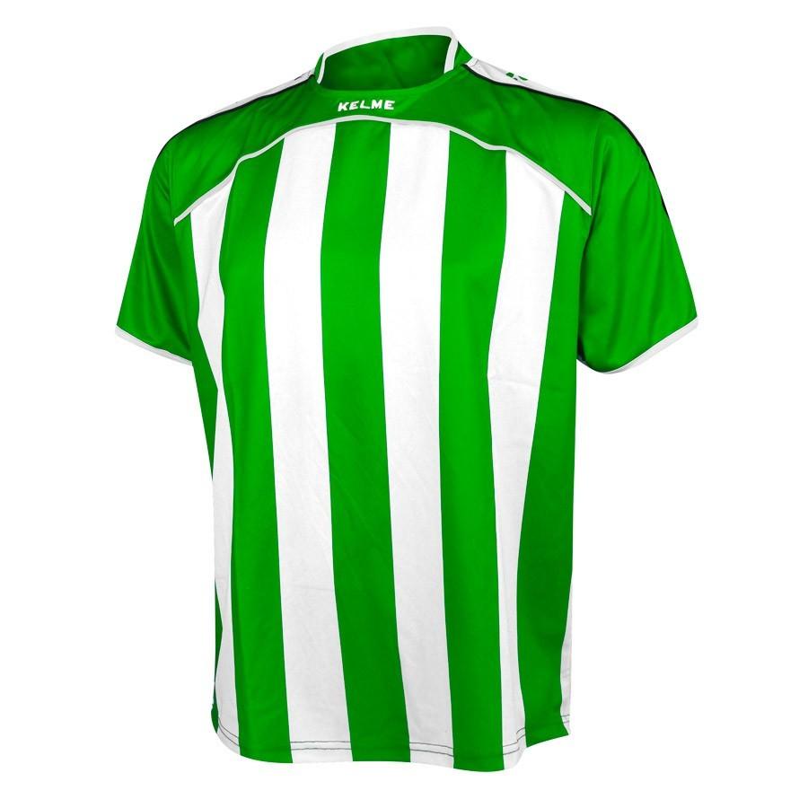 Camiseta Kelme Liga Verde-Blanca - Tienda de Fútbol. Soloporteros es ...