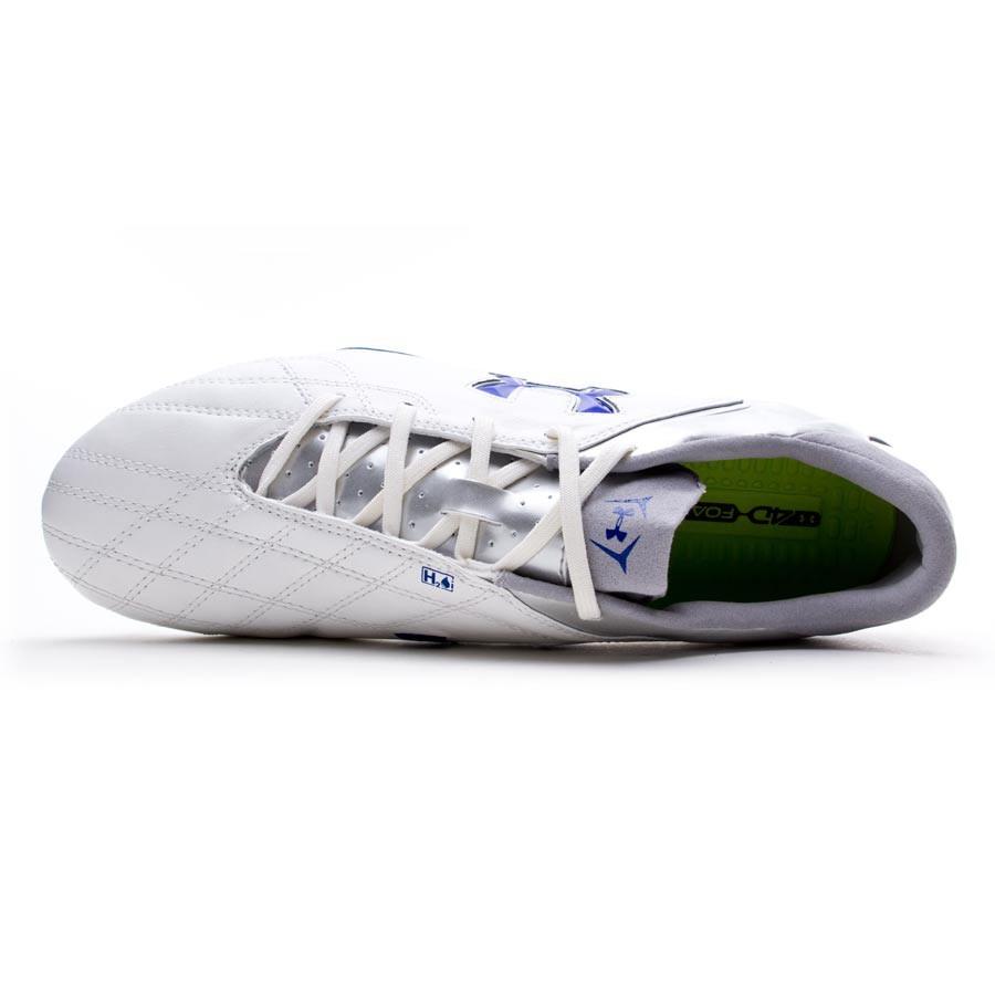 c2e52bca7fd6a Zapatos de fútbol Under Armour Hydrastrike Pro II FG Blanca-Plata-Royal -  Tienda de fútbol Fútbol Emotion