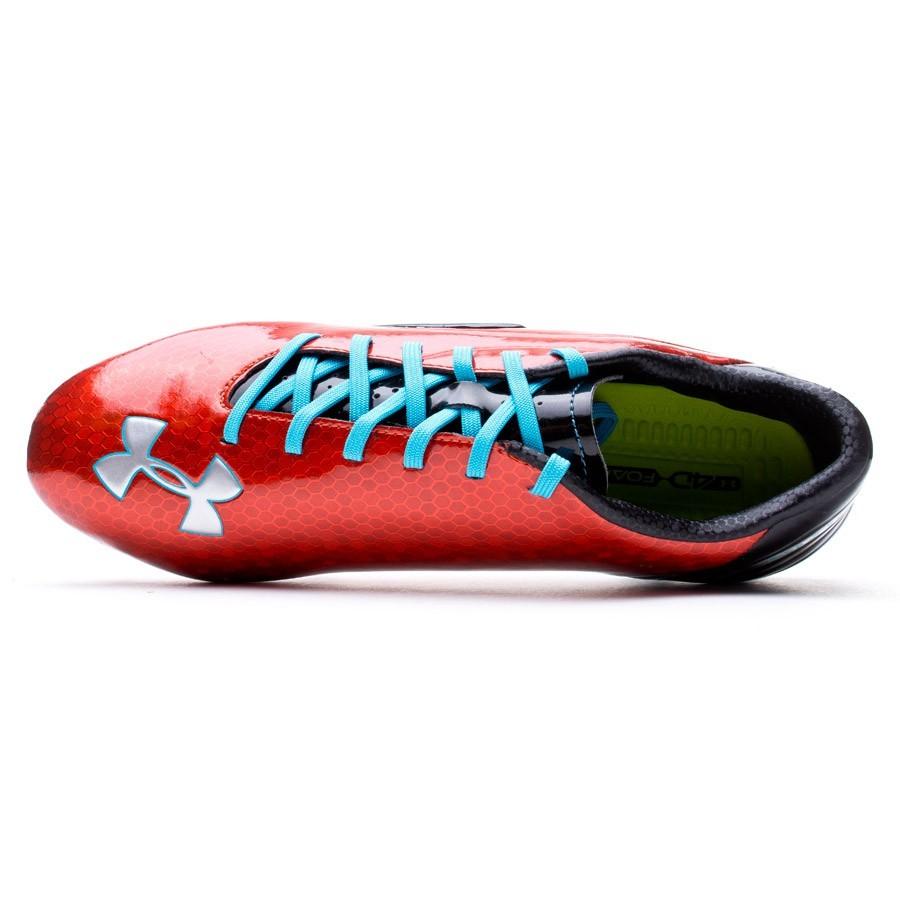 b0e70bf676515 Bota de fútbol Under Armour Blur III FG Roja-Negra-Azul - Tienda de fútbol  Fútbol Emotion