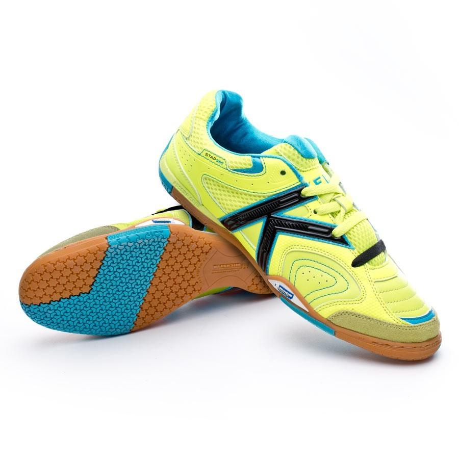 2e0c95a3f13 Futsal Boot Kelme Star 360º 2.0 Lime-Turquoise - Football store ...