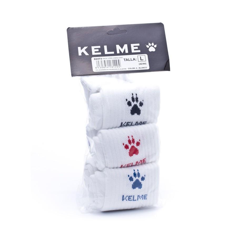 Calcetines Kelme Basicos Pack 3 Blancos - Soloporteros es ahora Fútbol  Emotion e90f048aeb3