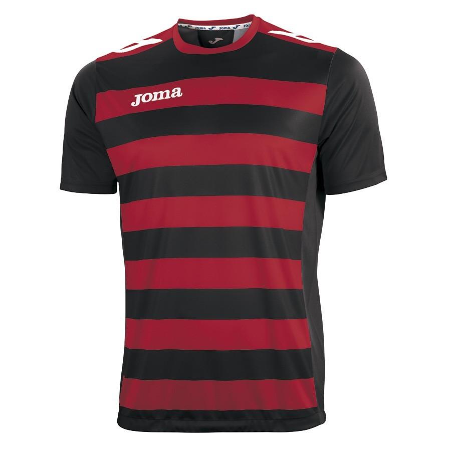 54de0e6966 Camiseta Joma M C Europa II Roja-Negra - Soloporteros es ahora Fútbol  Emotion