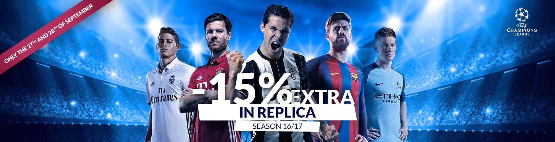 Descuento Champions 15% Septiembre EN