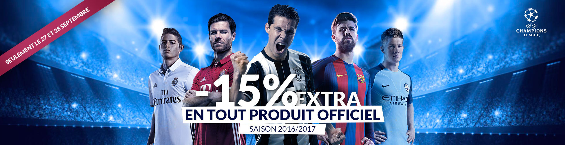 Descuento Champions 15% Septiembre FR
