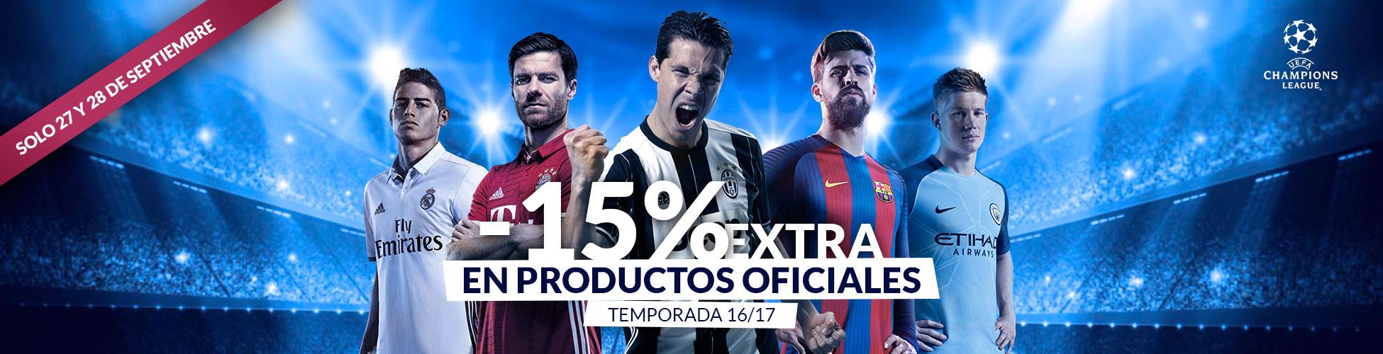 Descuento Champions 15% Septiembre ES