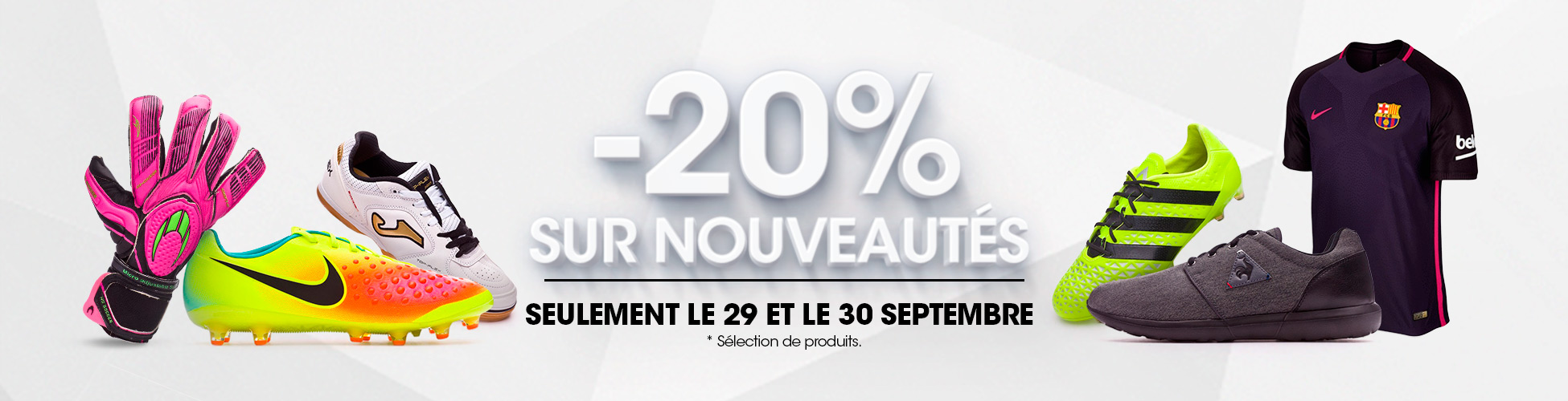 20% Novedades 30/09 FR
