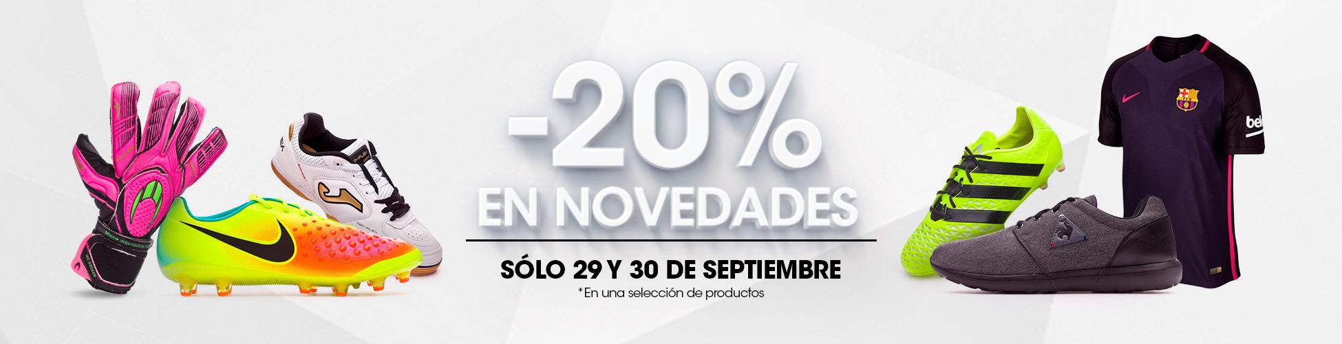 20% Novedades 30/09 ES
