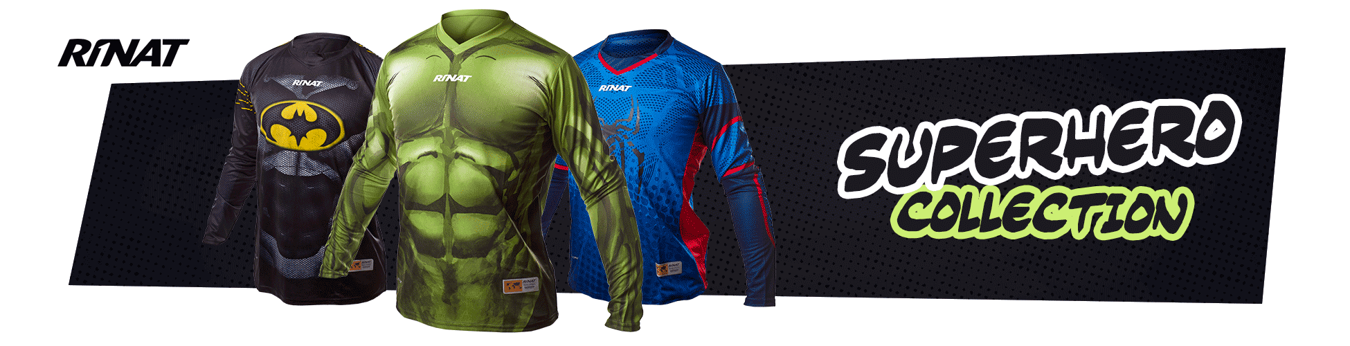 CAMISETAS RINAT SUPERHÉROES