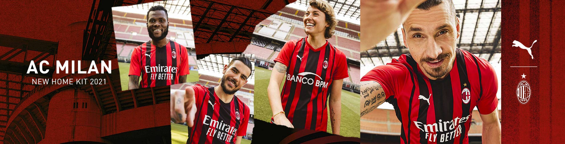 PUMA AC MILAN NEW HOME KIT 2021