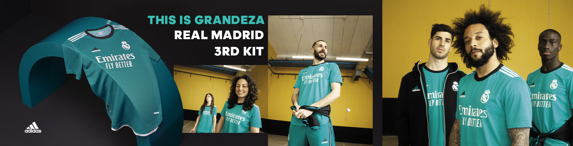 ADIDAS REAL MADRID 3RD KIT SEPTIEMBRE 2021