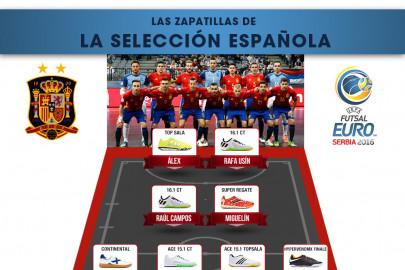 Las zapatillas de la Selección Española de Fútbol Sala // Serbia 2016