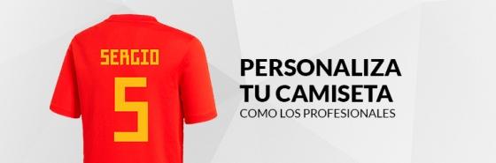 PERSONALIZA TU CAMISETA DE LA SELECCIÓN ESPAÑOLA