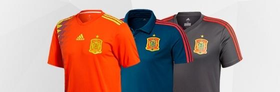 Magliette della nazionale spagnola
