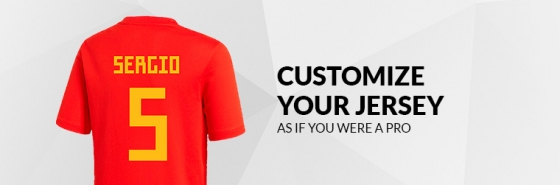 CUSTOMIZE YOUR SPANISH FEDERATION JERSEY