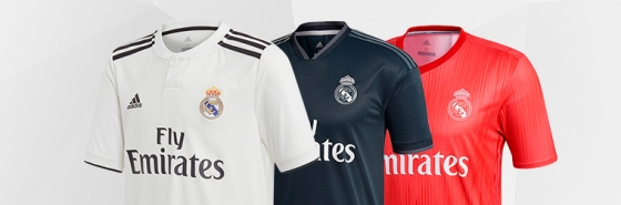 LES DIFFÉRENTS MAILLOTS DU REAL MADRID