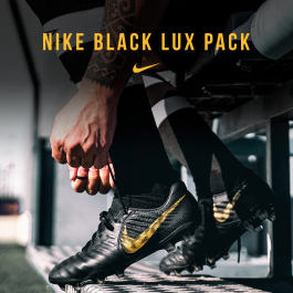 NIKE BLACK LUX FOOTBALL BOOTS