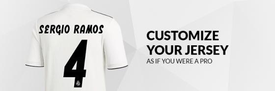 CUSTOMIZE YOUR REAL MADRID JERSEY