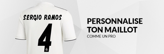 PERSONNALISE TON MAILLOT DU REAL MADRID
