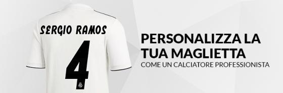 PERSONALIZZA LA TUA MAGLIETTA DEL REAL MADRID