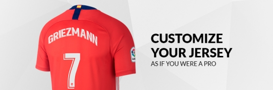 CUSTOMIZE YOUR ATLÉTICO DE MADRID JERSEYS
