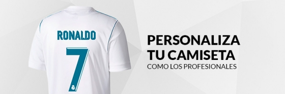 PERSONALIZA TU CAMISETA DEL REAL MADRID