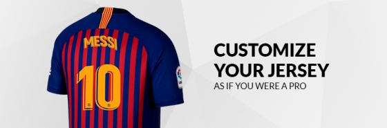 CUSTOMIZE YOUR  BARCELONA FC JERSEY