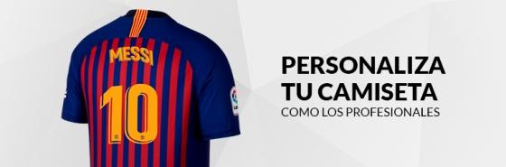 PERSONALIZA TU CAMISETA DEL FC BARCELONA