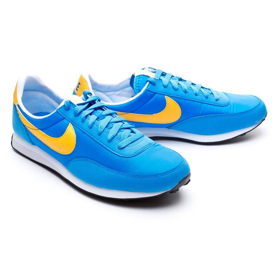 zapatillas nike azul y amarilla
