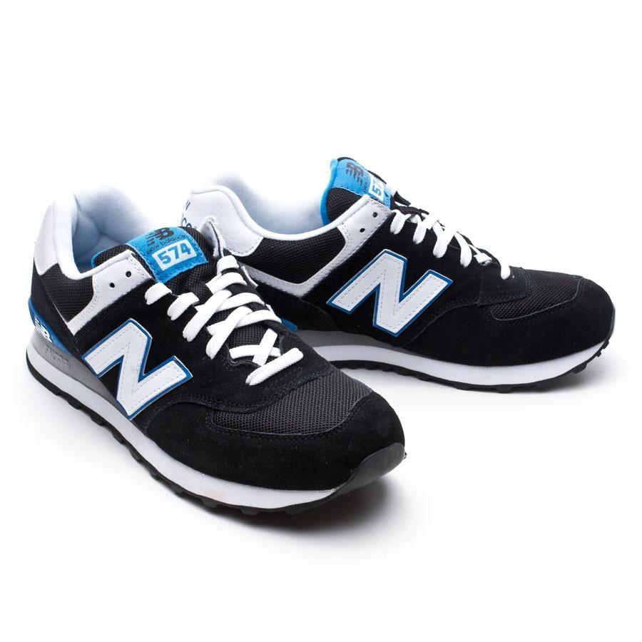new balance 574 negras y azules