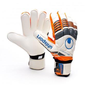 Glove  Uhlsport Eliminator Supersoft Bionik White-Orange-Black
