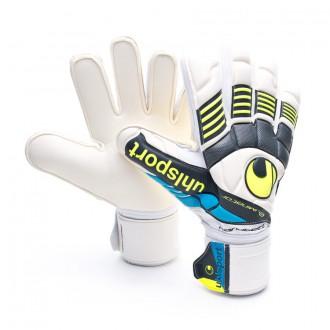 Glove  Uhlsport Eliminator Handbett Soft White-Fluorescent Yellow-Black