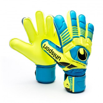 Guante  Uhlsport Eliminator Supersoft Cyan-Fluor