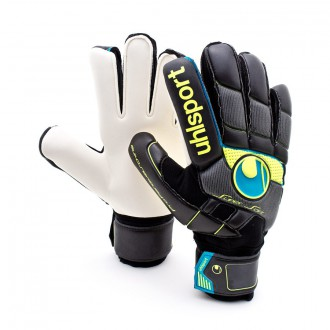 Glove  Uhlsport Fangmaschine Pro Comfort Textile Black-Fluorescent Yellow