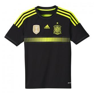 T-Shirt  adidas Jr Selección Española 2014 Black-Electricity