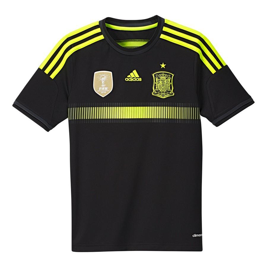 Camiseta adidas Jr Selección Española 2014 Negra-Electricity