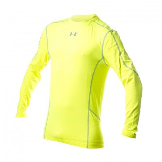 T-Shirt  Under Armour Evo Coldgear Compression New Mock Yellow