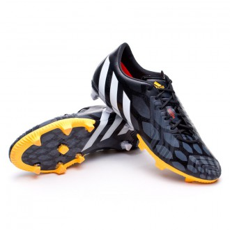 Bota  adidas Predator Instinct TRX FG Negra-Blanca-Solar gold